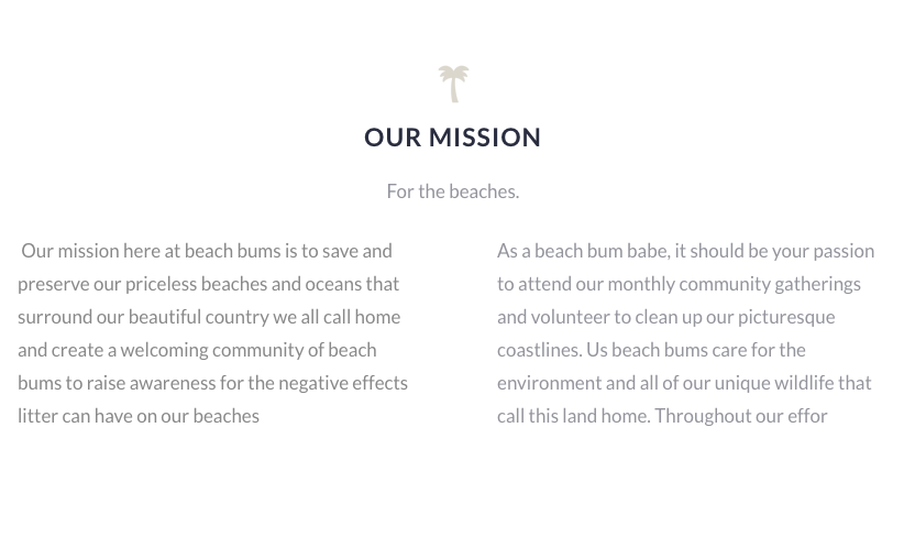 Beach Bums - Mission
