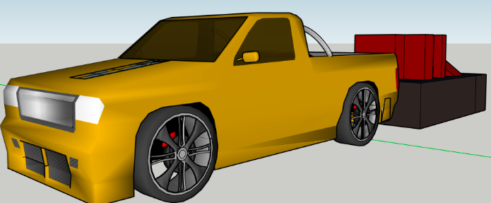 a 3D modelled ute attraction prototype