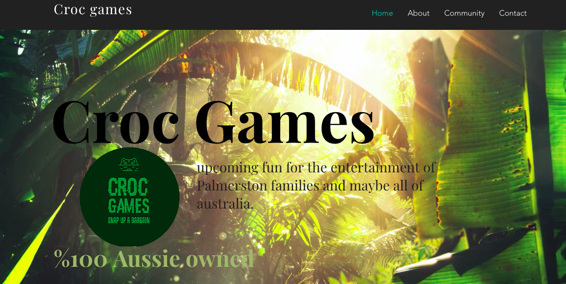 Croc Games Website