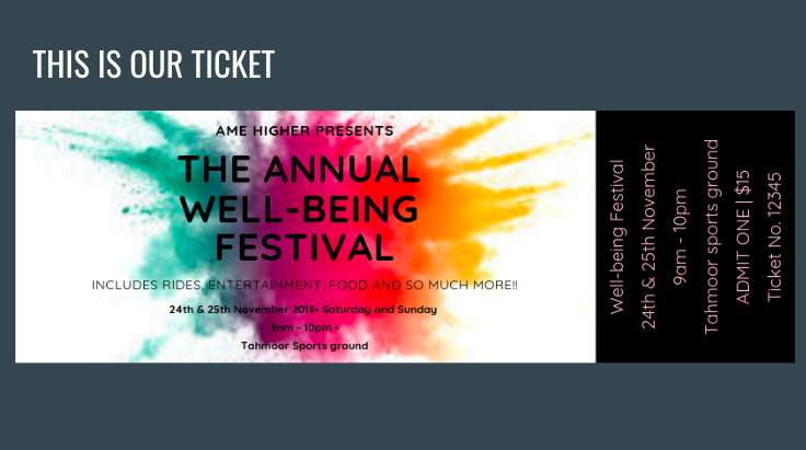 Picton wellbeing Festival Solution